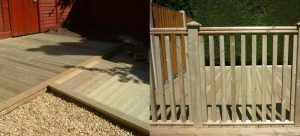 garden decking 300x136 - Fencing and Landscaping Mansfield